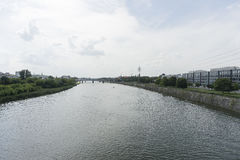 Le fleuve Vistule à Cracovie Photo libre de droits