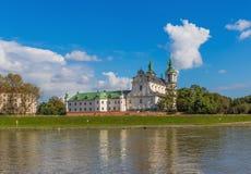 Le fleuve Vistule à Cracovie, Pologne image libre de droits