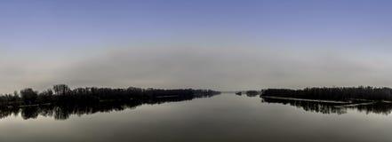 Le fleuve Vistule en hiver - Nowy Dwor Mazowiecki Images stock