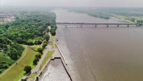 Le fleuve Vistule, Pologne clips vidéos