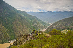 Le fleuve Yangtze en Chine Photos libres de droits