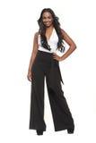Le flicka för blandad Race i studio Royaltyfri Fotografi