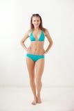 Le flickan i swimwear Royaltyfri Fotografi