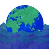Le flottement de la terre Photographie stock