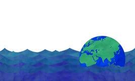 Le flottement de la terre Photo stock