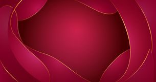 Le fluide abstrait de vecteur forme la composition Le vin rouge ondule le fond avec le liquide en plastique, formes organiques, j illustration stock