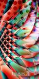 Le fluide coloré géométrique ondule le fond abstrait Images libres de droits