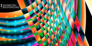 Le fluide coloré géométrique ondule le fond abstrait Photographie stock libre de droits
