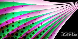 Le fluide coloré géométrique ondule le fond abstrait Photographie stock