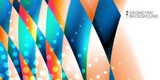 Le fluide coloré géométrique ondule le fond abstrait Images stock