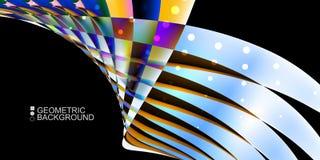 Le fluide coloré géométrique ondule le fond abstrait Image libre de droits