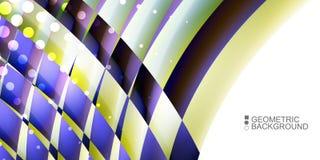 Le fluide coloré géométrique ondule le fond abstrait Photo libre de droits