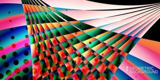 Le fluide coloré géométrique ondule le fond abstrait Photo stock