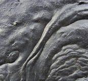 Le flux d'une lave r3fléchissante noire de goudron aiment la substance Images stock