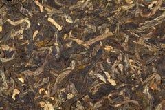 Le foglie di tè di Puer hanno introdotto la torta Immagine Stock Libera da Diritti