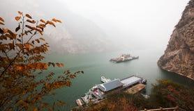 Le foglie di Three Gorges Fotografie Stock