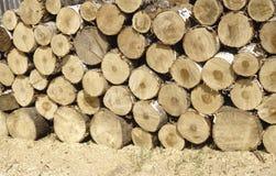 Le foncé a coupé des rondins pour le feu d'hiver photo libre de droits