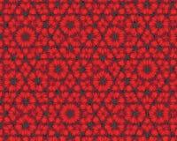 Le fond abstrait aiment les fleurs rouges de fractale Photographie stock libre de droits