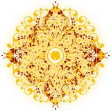 Le fond abstrait avec les éléments et les cercles floraux, dirigent la défectuosité illustration libre de droits
