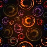 Le fond abstrait coloré allume le cercle Images libres de droits