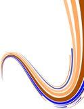 le fond abstrait déplié raye multicolore Vecteur illustration libre de droits