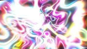 Le fond abstrait d'énergie de lueur avec les effets visuels d'illusion et de vague, 3d rendent se produire d'ordinateur illustration stock