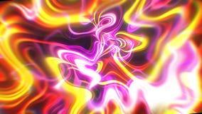 Le fond abstrait d'énergie de lueur avec les effets visuels d'illusion et de vague, 3d rendent se produire d'ordinateur illustration libre de droits