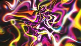 Le fond abstrait d'énergie de lueur avec les effets visuels d'illusion et de vague, 3d rendent se produire d'ordinateur illustration de vecteur