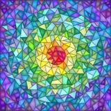 Le fond abstrait dans le style du verre souillé, verre d'imitation a fendu Images libres de droits