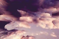 Le fond abstrait de ciel expulsent cube, modèle expulsé illustration de vecteur