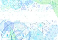 Le fond abstrait de la science et de mathématiques illustration stock