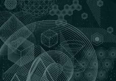 Le fond abstrait de la science et de mathématiques illustration de vecteur