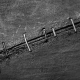 Le fond abstrait de vieilles surfaces en bois lancées a attaché avec Photographie stock libre de droits