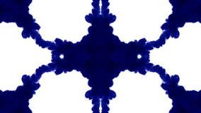 Le fond abstrait des écoulements d'encre ou de fumée est kaléidoscope ou tache d'encre test11 de Rorschach D'isolement sur le bla banque de vidéos