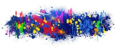 Le fond abstrait est les taches colorées sur le blanc Image stock