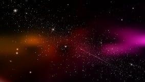 Le fond abstrait est un espace avec la nébuleuse d'étoiles Vecteur Illustration Stock