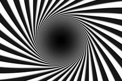 Le fond abstrait noir et blanc raye le trou noir Photos libres de droits