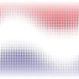 Le fond abstrait rouge et bleu avec l'effet tramé ondule Image libre de droits