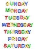 Jours de la semaine Photo libre de droits