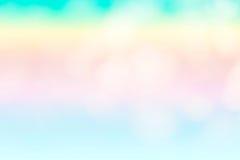 Le fond bleu abstrait de vague sur le style de bokeh Photos stock