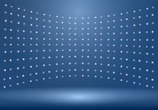 Le fond bleu de luxe de pièce de studio avec des projecteurs jaillissent utilisation comme B Photos stock