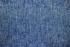 Le fond bleu de texture de jeans de denim peut être employé comme orientation horizontale de papier peint Photos libres de droits