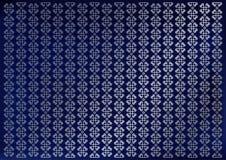 Le fond bleu de velours décoré des rayures verticales de l'ornement fleurit en argent illustration de vecteur