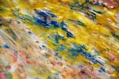 Le fond bleu vif d'or, bleu a brouillé le fond abstrait cireux, fond vif d'aquarelle, texture photographie stock libre de droits