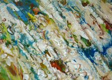 Le fond boueux de scintillement vert-bleu argenté, peinture cireuse boueuse de scintillement, contraste forme le fond dans des to Image libre de droits
