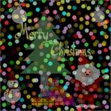 Le fond brouillé de lumières, bokeh entoure, Joyeux Noël illustration de vecteur