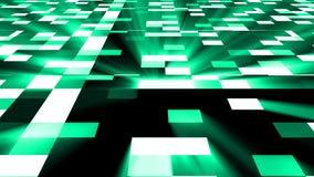 Le fond carré abstrait de technologie avec la fusée lumineuse, 3d rendent le contexte, art numérique généré par ordinateur illustration de vecteur
