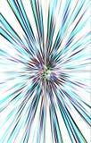 Le fond clair des rayures de couleur diverge du milieu aux bords Photo libre de droits