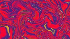 Le fond coloré abstrait du gradient avec l'illusion visuelle et la vague huilent des effets, le rendu 3d Image libre de droits