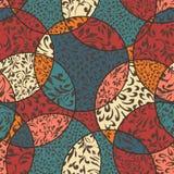 Le fond coloré sans couture avec l'ornement abstrait s'est divisé par c Images libres de droits